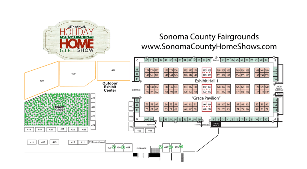 Sonoma County Holiday Home Show Event Map